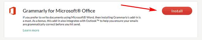 Grammarly on Microsoft Office