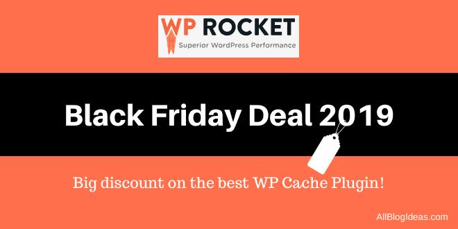 WP Rocket Black Friday Deal 2019