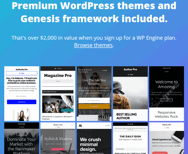 studiopress themes free with all wpengine hosting plans