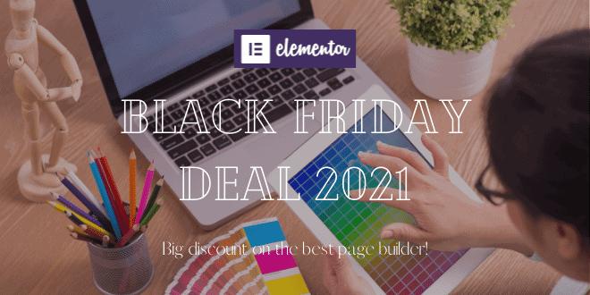 Elementor Black Friday Deal 2021