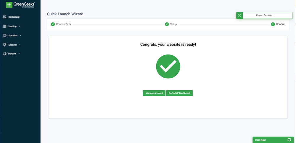 GreenGeeks Quick Launch Wizard: Step by Step Set Up Your Blog in 2021 11