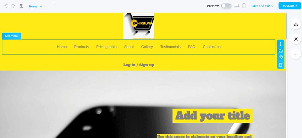 getresponse site builder dashboard