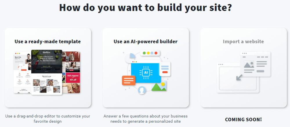 getresponse website builder features