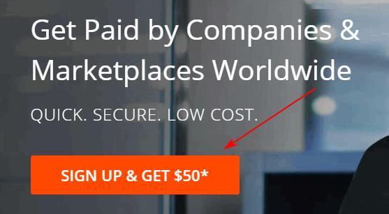 payoneer sign up bonus $50