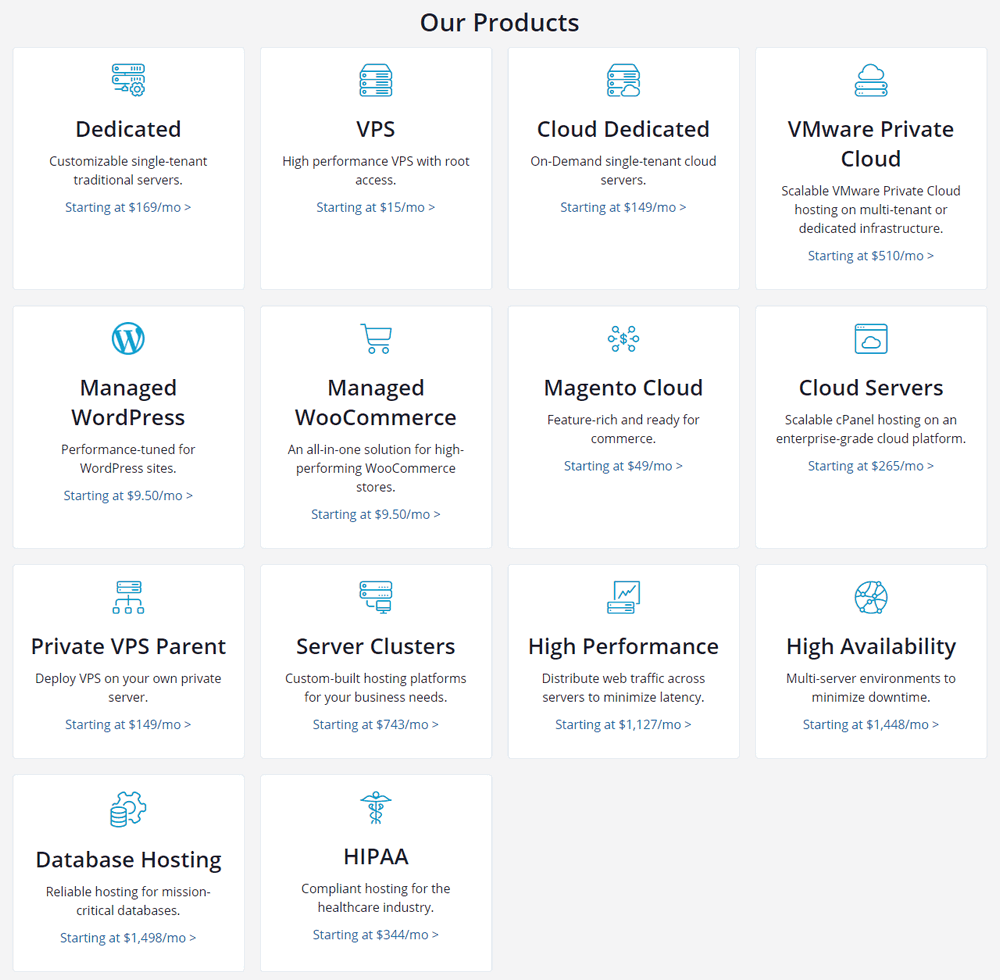 liquid web products